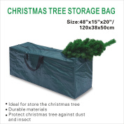 BenefitUSA Heavy Duty Large Artificial Christmas Tree Storage Bag For Clean Up Holiday Up to 2.4m Green Bag