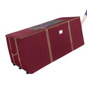 Elf Stor Premium Red Rolling Duffle Bag Style Christmas Tree Storage Bag