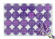 Box of 24 bath pearls - Lavander translucent