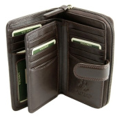 """""""HERITAGE"""" Visconti QuadFold Leather Women's Wallet, Luxury Leather Purse (HT33)"""