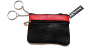 AKSHIDE Leather coin Purse with Key Ring