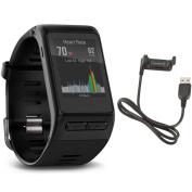 Garmin Vívoactive HR GPS Smart Watch, Regular fit - Black w/ Charging cable