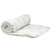 Silly Billyz Muslin Swaddle Feathers 120 x 120 cm White