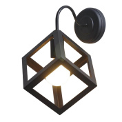 American Retro, Creative Personality, Industrial Loft, Wall Lamp, Stair Aisle, Balcony Corridor, Square Iron, Single Head Lamps
