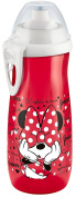 NUK Disney Mickey Mouse Sports 10255327 Cup BPA Free Silicone Push/Pull Nozzle from 36 Months Girl, 450 ml, Red