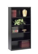 Tennsco Corporation B-66BK Welded Bookcase, 90cm - 1.3cm Width x 170cm Height x 33cm Length, 5 Shelves, Black