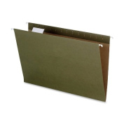 EarthWise by Pendaflex 100% Recycled Hanging File Folders, Legal Size, 1/5 Cut, Standard Green, 25 per Box