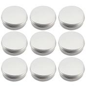 10pcs 100ml 3.33oz Empty Aluminium Cosmetic Travel Container Balms Cream Pot Jar Tin Bottle Container