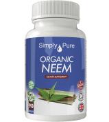 New - - Simply Pure - 90 Organic Neem Capsules - High Strength (500mg) - 100% Natural - Gluten Free - Vegan - Moneyback Guarantee