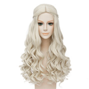LanTing Alice Through the Looking Glass.Alice in Wonderland 2 The White Queen White Cosplay Party Fashion Anime Human Kostüm Full Wigs Synthetic Haar Heat Resistant Fibre Haar
