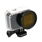 Zhhlinyuan Camera Lens Yellow Filter Camera Accessory for Xiaoyi 4k Action Camera 52mm