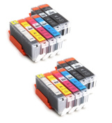Multipack - 12 compatible XL Ink cartridges CANON PGi-550XL / CLI-551XL - for CANON Pixma MG6350