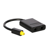TUOYA Toslink Fibre Optic Digital Optical Audio Splitter Cable One Inputs to Two Output Adapter