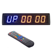 BTBSIGN 5.8cm Programmable LED Interval Timer Countdown Clock Stopwatch