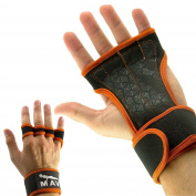 Cross Training Gloves with Wrist Support for WODs,Gym Workout,Weightlifting & Fitness-Silicone Padding, No Calluses-Suits Men & Women-Weight Lifting Gloves for a Strong Grip-by Mava