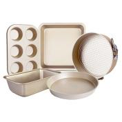 Zhhlaixing Fashion 5 Piece Non Stick Aluminium Bake Ware Bakeware Baking Set