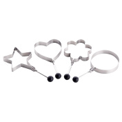 Zhhlaixing Fashion 4 PCS Stainless Steel Cooking Fried Egg Pancake Ring Mould Mould