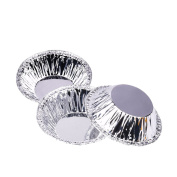 Zhhlaixing Fashion 250 Piece Aluminium Foil Disposable Baking Egg Tart Tins Mould Mould Makers Cake Cups