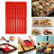 Rectangles Shape Printed 3D silicone Cake Mould Waffle Mould Baking Tool