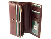 Visconti Womens Large Italian Style Leather Purse / Wallet For Credit Cards, Banknotes, Coins - Monza MZ10