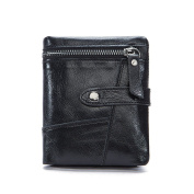 Genda 2Archer Vintage Leather Card Holder Coin Pouch Trifold Wallet for Men