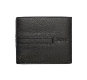 HUGO BOSS MEN'S LEATHER CARDS & COIN WALLET 'GALKO' BLACK