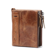 FEITONG Men Leather ID credit Card holder Clutch Bifold Coin Purse Wallet Pockets
