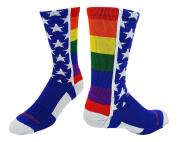 MadSportsStuff Rainbow Pride Crew Socks