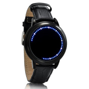 White & Blue LED Touch Screen Watch