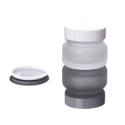 50g 50ml(1.6oz) Refillable Empty Glass Mask Cream Jar Bottes Portable Creams Cosmetic Make up Container Pot with White Inner Cap and Screw Top Cover for Emulsion Hand Lotion DIY Beauty Goods and More