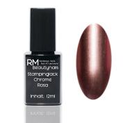 Chrome Effect Stampinglack Pink 12ml Stamping Nail Polish RM Beauty Nails