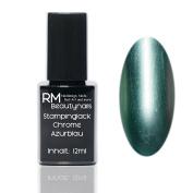 Chrome Effect Stampinglack Azure Blue 12ml Stamping Nail Polish RM Beauty Nails