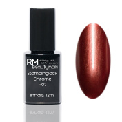 Chrome Effect Stampinglack Red 12ml Stamping Nail Polish RM Beauty Nails