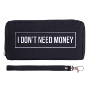 Fashionable Wallet for Men Woman Cash Holder Zippered Card Purse Don't need money [050]