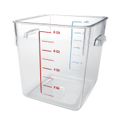 Rubbermaid Commercial Carb-X Space Saving Square Food Storage Container, 7.6l, Clear, FG630800CLR