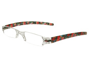 """Quartet"" Blue/Pink Floral Ladies Reading Glasses by Good Lookers"