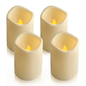 ParaCity High quality Indoor/Outdoor Flameless Battery Operated Plastic Pillar Led Candle Light with 4 & 8 Hour Timer