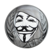 Guy Fawkes Mask $5 30ml Silver Coin - Cook Islands 2016