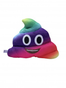 Amusing Emoi Emoticon Cushion Heart Eyes Poo Shape Emoti Pillow Case Soft Plush Cushion Toy Gift for Car Home Office