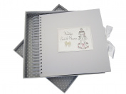 White Cotton Cards Wedding Day Card and Memory Book Cake Design