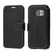 Samsung Galaxy S7 Case, Coodio Genuine Leather Case, Samsung Galaxy S7 Wallet Case, Flip Case Cover with Stand Function, Card Slots, Magnetic Closure For Samsung Galaxy S7