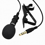 TONOR Lavalier Microphone Lapel Mic Mini Microphone For Iphone Ipad Ipod for Samsung Android and Smartphones