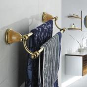 KHSKX European antique, bathroom towel bar, chrome-plated brass, double hung double jade