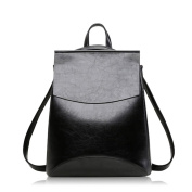 3-in-1 Vintage Leather Backpack Satchel Knapsack Schoolbag/Top-handle Bag/Shoulder Bags for Girl Lady Women
