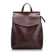 3-in-1 Vintage Leather Backpack Satchel Knapsack Schoolbag/Top-handle Bag/Shoulder Bags for Girl Lady Women