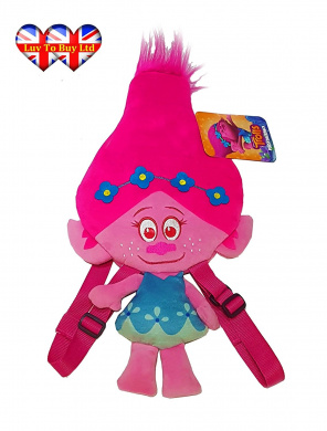 Plush Backpack Official Licenced Trolls   DreamWorks Poppy Backpack