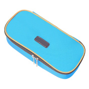 Beetest-EU-Portable Large Capacity Multifunction Zipper Pencil Bag Pen Pouch Students Stationery Storage Holder Case Blue