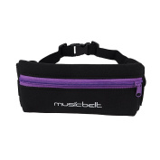 Musicbelt Comfortable Running Belt Large Capacity Waist Bag Apply to All Smartphone for Hiking Cycling Climbing Camping Travel