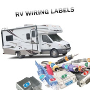 Steellabels - RV Wiring ID Labels - 60 Chrome Foil Assembly Stickers with numbered matching pair. .Know what plug-in goes to what socket. Audio, Desktop Electronics, Engines and more