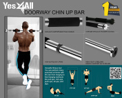 """Yes4All Doorway Pullup Bar / Chinup Bar – Fit Doorways 24"""" - 34"""" & Support up to 90kg"""